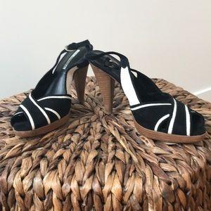 Shoes - Black & White Heels by Via Spiga